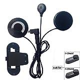 FreedConn Mikrofon Kopfhörer Soft Kabel Headset & Clip Zubehör für FDCVB Serie Motorradhelm Bluetooth Interphone Motorrad Intercom TCOM-SC