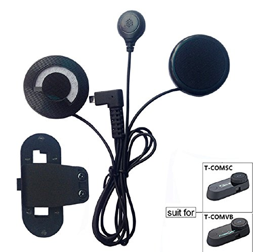 FreedConn Auriculares Para Casco Moto Intercom Talkie accesorio Clip y auriculares manos libres para el T-COMVB y T-COMSC casco de la motocicleta de Bluetooth Interphone del intercomunicador