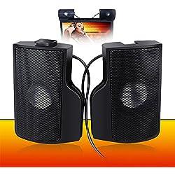 Computer Lautsprecher, PC Lautsprecher WeGood Mini Lautsprecher Stereo Lautsprecher mit Subwoofer für PC Asus / Acer / Samsung / Dell / Toshiba / HP Multimedia Speaker Schwarz Plug and Play