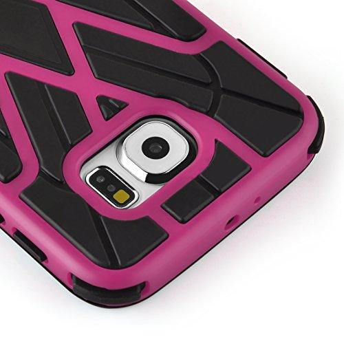 iPhone 6, JAMMYLIZARD Stoßfeste Back Cover Hülle mit verstärktem Kantenschutz für iPhone 6 & 6s 4.7 Zoll, GRAU PINK