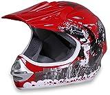 Actionbikes Motors Motorradhelm X-Treme Kinder Cross Helme Sturzhelm Schutzhelm Helm für Motorrad Kinderquad und Crossbike (Orange, L)