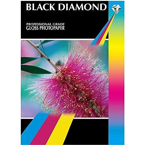 Black Diamond 100fogli A4Glossy 210gsm Carta Fotografica–Professionale ad alta risoluzione brillante bianco lucido carta fotografica
