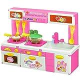 Unbekannt Puppenküche mit Zubehör, Licht & Sound / Kinderküche / Spielzeugküche in pink