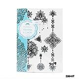 Henna & Lace Tatuaggi con astratto, Indiano di Persico fiori, Henna di stelle e catene