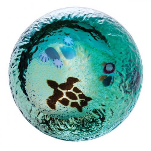Caithness Glass Seabed Turtle Paperweight Test