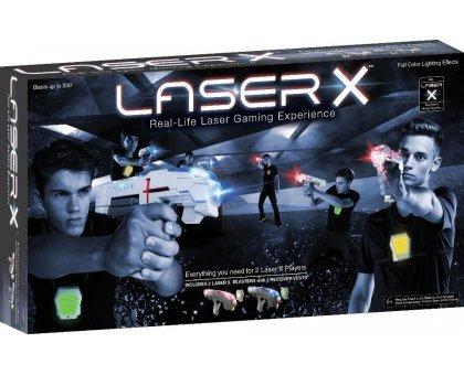 NEW LASER X Jeu de Pistolet Laser pour 2 joueurs - 2 Pistolets Laser et 2 Plastrons