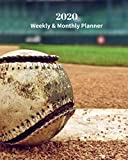 2020 Weekly and Monthly Planner: Monthly Calendar with U.S./UK/ Canadian/Christian/Jewish/Muslim Holidays- Calendar in Review/Notes 8 x 10 in.-Baseball Recreation Sports