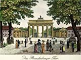 Handkolorierte original Radierung Berlin, Brandenburger Tor als loses Blatt, Graphik, kein Kunstdruck, kein Leinwandbild