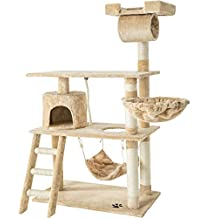TecTake Rascador para gatos Árbol para gatos Sisal Juguetes 141 cm - disponible en diferentes colores - (beige | no. 401854)