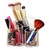 Acelectronic® Organisateur de Maquillage – 3 espaces Coton-Pad Distributeur Boîte de Rangement en Acrylique cosmétiques Organisateur pour Pinceaux à Maquillage