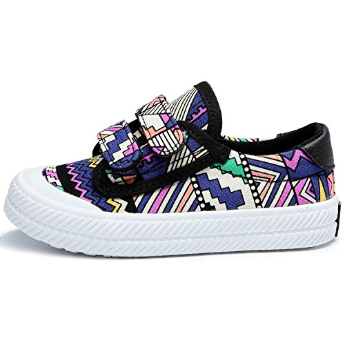 Alexis Leroy Pop Art Kinderschuhe Mädchen Stoffschuhe Sneakers Lila