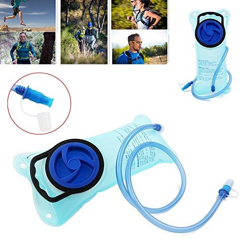 Trinkblase 2 Liter IntiPal – Trinkbeutel Wassertank Wasserbeutel für Rucksack Camping Jogen Trekking o.a. Outdoor-Aktivität - 2