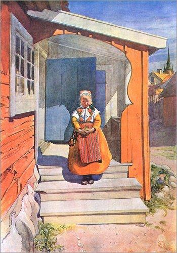 Posterlounge Acrylglasbild 120 x 170 cm: Ännchen von Carl Larsson - Wandbild, Acryl Glasbild, Druck auf Acryl Glas Bild