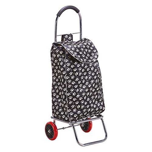 Ali Lamps@ Handwagen klappbar Einkaufswagen Kleinwagen Portable Zugstange Auto Handgepäckwagen Kleiner Anhänger Älterer Trolley Handwagen Inklusive Taschen Beladung 30 kg (Farbe : #4)
