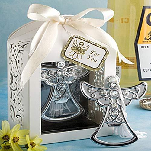 DENGNIWOFlaschenöffner10pcs / Lot Hochzeits-Andenken-Engels-Flaschenöffner-Partei-kleines Geschenk mit Kasten für Hochzeits-Dekorations-Zusätze (Engel Sammlung)