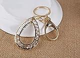 Schlüsselanhänger in Tropfenform, Kristall-Anhänger, Schlüsselanhänger, für Damen, Tasche, Geldbörse, Dekoration, metall, goldfarben, 4x6cm