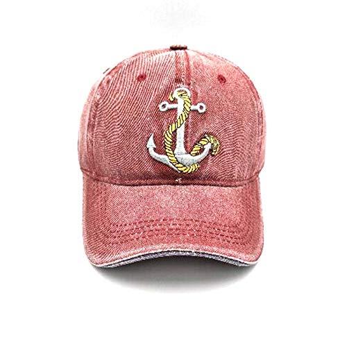 WOQUXIA Schiffs-Anker-Baseballmütze-Frühlings-Herbst-Baumwollliebhaber-Hüte für Frauen und Männer Casquette -