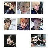 Bellenne 8 Stück BTS Mini Fotokarten Postkarte Lomo Karten mit BTS Members Signatur