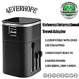 4EVERHOPE Worldwide Reiseadapter, Universal USB Adapter Ladegerät Stecker für UK/EU / US/AU Steckdose Steckdose 5v / 3200mah für Apple, iPhone, iPod, iPad, Android Smartphone