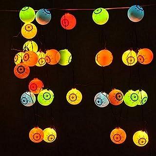 AntEuro Halloween Solar String Lights, 10 LED Solar Power Eyes Fairy String Light/Starry Light for Outdoor,Home,Patio,Garden,Thanksgiving,Christmas (Multi Color)