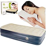FiNeWaY INFLATABLE HIGH RAISED SINGLE AIR BED MATTRESS AIRBED WITH BUILT IN ELECTRIC PUMP