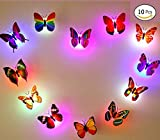 (Pack Of 11)LED Cute Lamp Colorful Color Changing Beautiful Butterfly Led Night Light Home Décor Wall Night Lamp