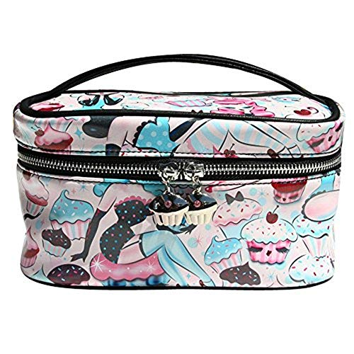 Original Fluff - Damen Big Beauty Case Doll Face Make Up Kosmetiktasche Koffer