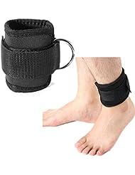 PhilMat El d-anillo del tobillo de bienestar corporal ata el levantamiento de la polea del muslo del parte del gimnasio con correa