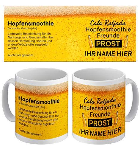 Tasse mit lustigem Spruch und eigenem Namen | Cala Ratjada Hopfensmoothie Freunde | Kaffeetasse mit...