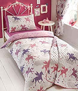 Kids Club - Divine Unicorns Duvet Cover Sets OR Curtains OR Bedspread