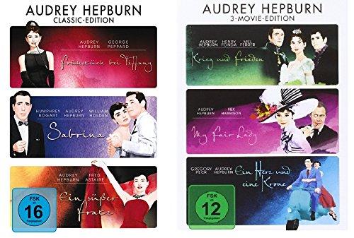 Audrey Hepburn - 6 Filme - Classic Movie Edition im Set - Deutsche Originalware [6 DVDs] (Audrey Hepburn)