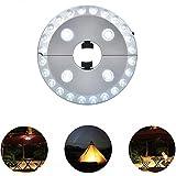 Teepao ombrellone luce ricaricabile, 3modalità di luminosità cordless 24luci a LED per ombrellone, tende da campeggio o attività all' aperto (nero) Silver