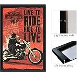 Harley Davidson - Viva para montar Artistica di Stampa (60,96 x 91,44 cm)