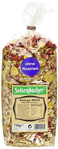 Seitenbacher Müsli Energy-Müsli, 3er Pack (3 x 750 g Packung) (Erdbeer-joghurt-rosinen)