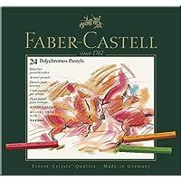 Faber-Castell 128524 - Estuche de cartón con 24 tizas pastel, multicolor