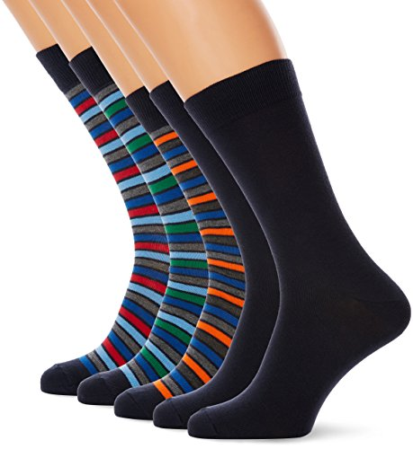 Marathon Herren 5-Pack Socks Multicoloured (Black Iris, Light Grey Melange, Bonnie Blue, Jelly Bean, Olympian Blue, Ski Patrol, Golden Poppy, Dark Grey Melange), 40-46 (Light Cotton Iris)