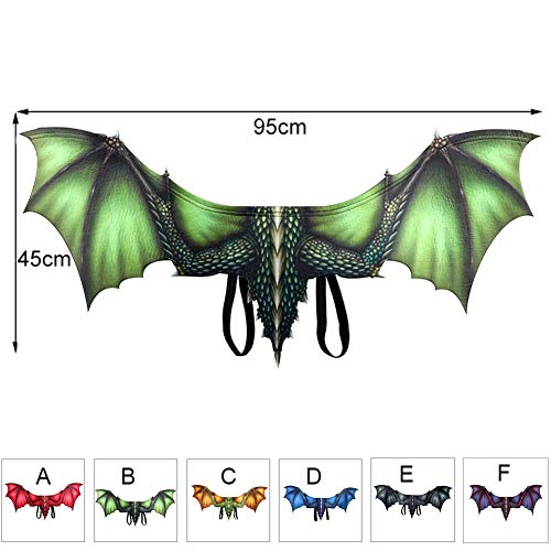 FYYTRL Halloween Kostüm Drachenflügel, Adult Dragon Costume Wings Cosplay, Einheitsgrösse,B