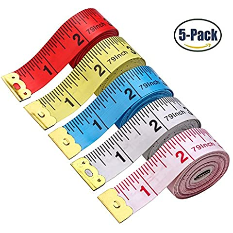 souple rétractable ruban à mesurer Mètre à ruban de poche pratique double face Tailor de ruban à mesurer 150cm 152,4cm 2M 5 colors