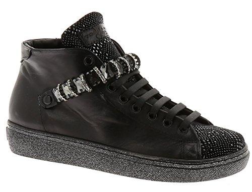 Tosca Blu sneakers alte donna con accessorio pelle nero art.sf1601s011 (EU 36)
