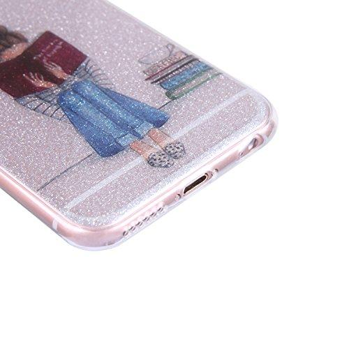 Coque iPhone 6, Coque iPhone 6S, iPhone 6 6S Coque Glitter Paillettes Etui, BONROY® Housse Silicone Portable Premium Case Cover pour iPhone 6 6S, Modèle créatif clair et adorable Ultra-Fine Souple Gel Fille de lecture