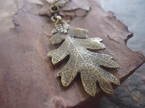 ✿ BRONCE ROBLE ✿ collar de cadena larga