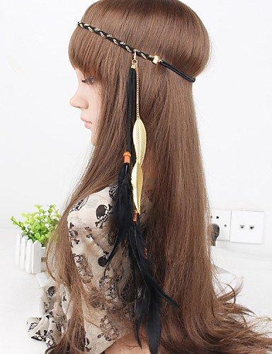 OUYANG Feather Headband,Native, American,Style,Indian, Pocahontas,Bohemian, Braided ,Hippie,Headdres, Gypsy, Festival