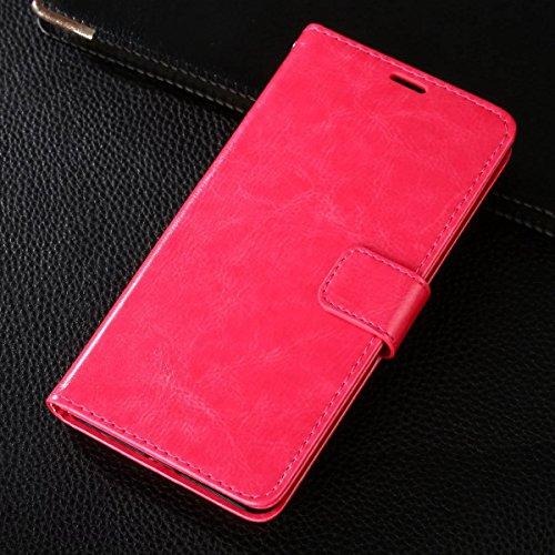 Gionee M6 Plus Hülle,CHENXI Pu Leder Wallet Case Flip Cover Hüllen mit 3 Kartenfächern Magnetverschluss mit Standfunktion Handy Tasche für Gionee M6 Plus Rosa