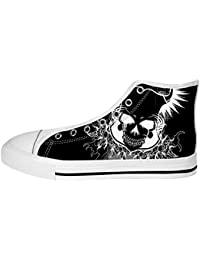 Dalliy Cool Skull Women's Canvas shoes Schuhe Lace-up High-top Footwear Sneakers