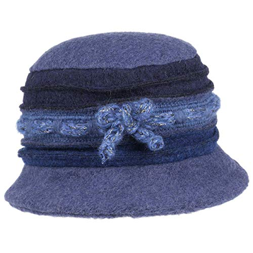 Lierys Giuliana Lurex Wollhut Damenhut Winterhut Stoffhut Damen   Made in Italy mit Futter, Futter Herbst-Winter   One Size blau