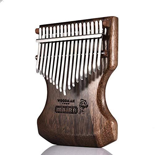 cosyhouse Kalimba Daumenklavier 17 Schlüssel, Sandelholz Daumen-Klavier Mit Stimmhammer, Afrikanisches Holz Finger way