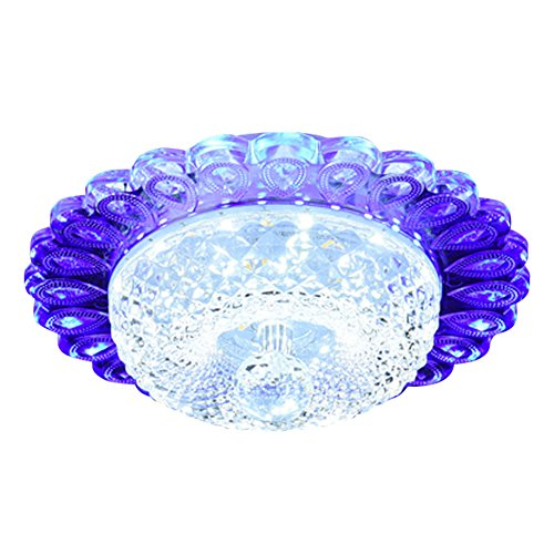 LED Deckenleuchte - SENYANG Kristall Deckenleuchten 12 W Mini Style Rotunda Deckenleuch te für Flur, Bar, Esszimmer, Treppenhaus, Kinder Zimmer (Weiß&Blau)