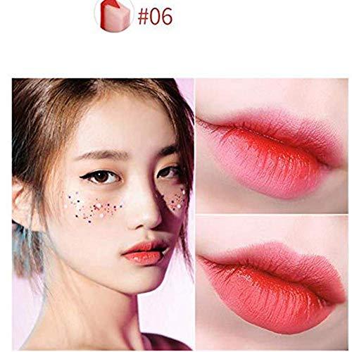 Yazidan Feuchtigkeitsspendend Zweifarbiger V-förmiger Lippenstift-Gradientenlippenbisslippen wasserdichter langlebiger Lippenstift-Mattlippenstift-Lipgloss-Make-up