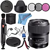Sigma 35mm F/1.4 DG HSM Art Lens For Nikon DSLR Cameras #340306 + 67mm 3 Piece Filter Kit + Lens Pen Cleaner + Fibercloth + Lens Capkeeper + Deluxe Cleaning Kit + Flexible Tripod Bundle