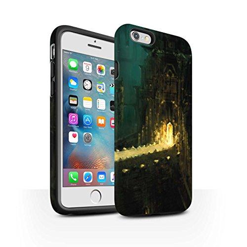 Offiziell Chris Cold Hülle / Matte Harten Stoßfest Case für Apple iPhone 6+/Plus 5.5 / Shadowgate Schloss Muster / Gefallene Erde Kollektion Dragonfel Tempel